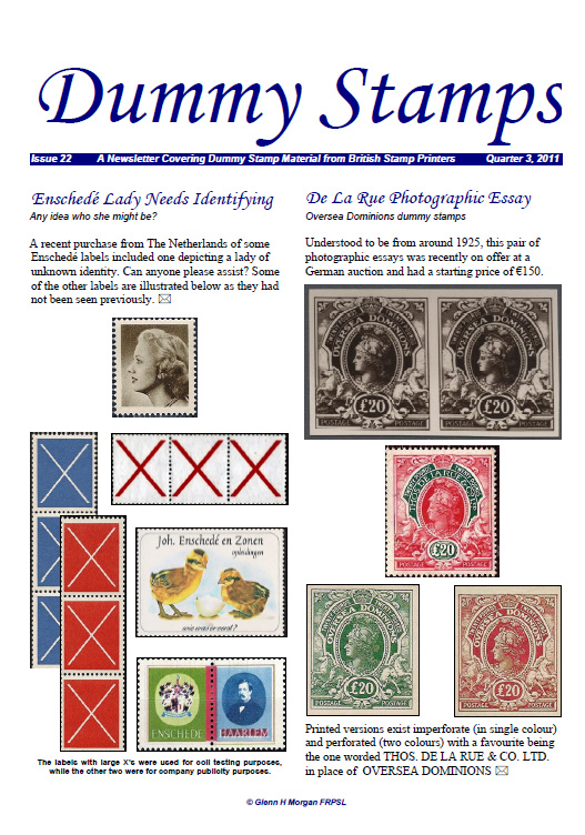 stampprinters info: Dummy Stamps Newsletter